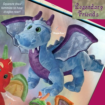 Roaring Blue Dragon Stuffed Animal